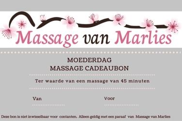 Moederdag Massagebon